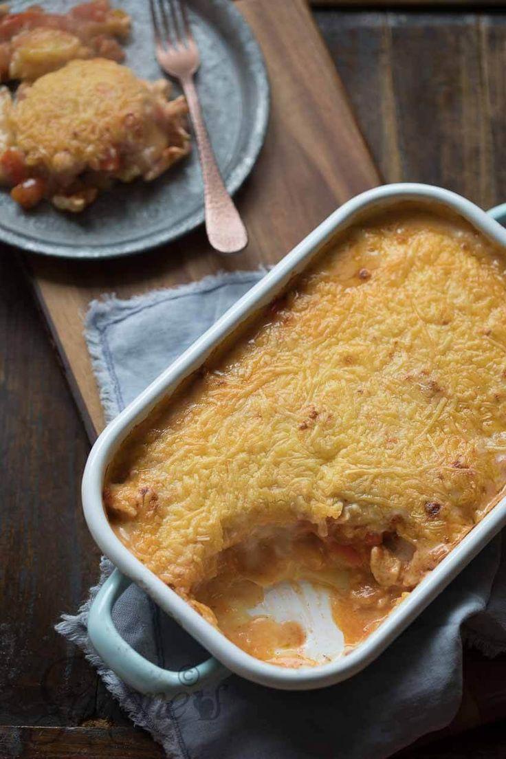 Gegratineerde Kip en Aardappel Ovenschotel met Bechamelsaus