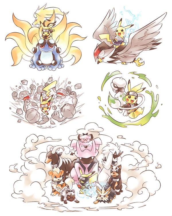 Pikachu as naruto characters!