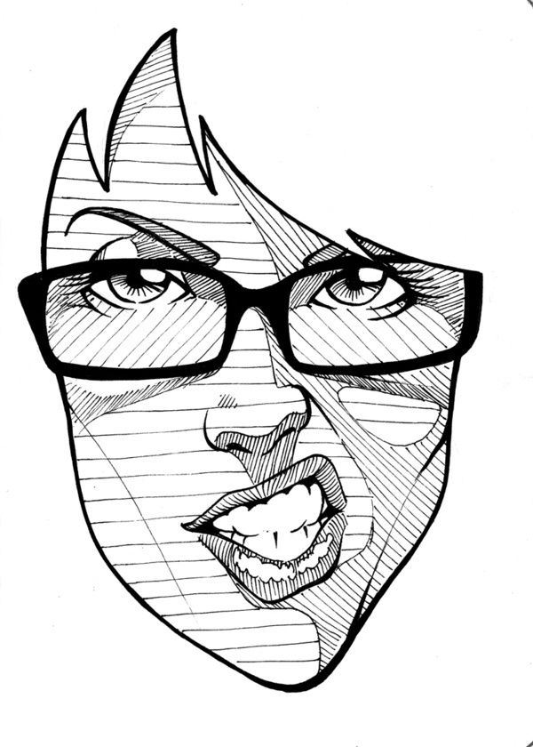 Great simplified illustration references for a portrait lesson! …….SKETCHBOOK PROJECT 2012 on the Behance Network