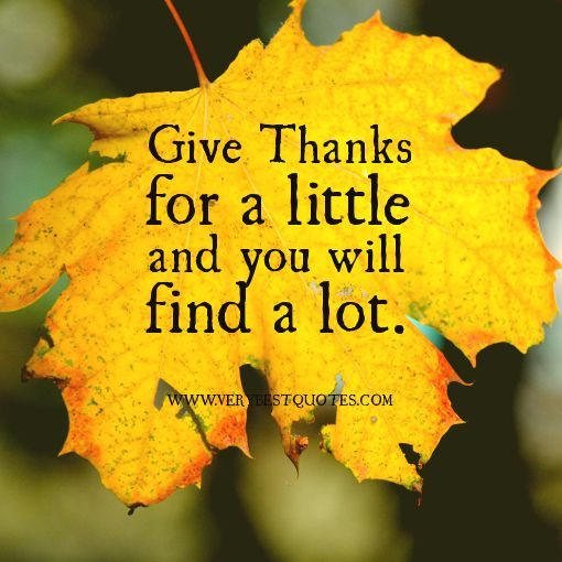 thanksgiving quotes christian | thanks for a little – Giving thanks Quotes - Inspirational Quotes ...