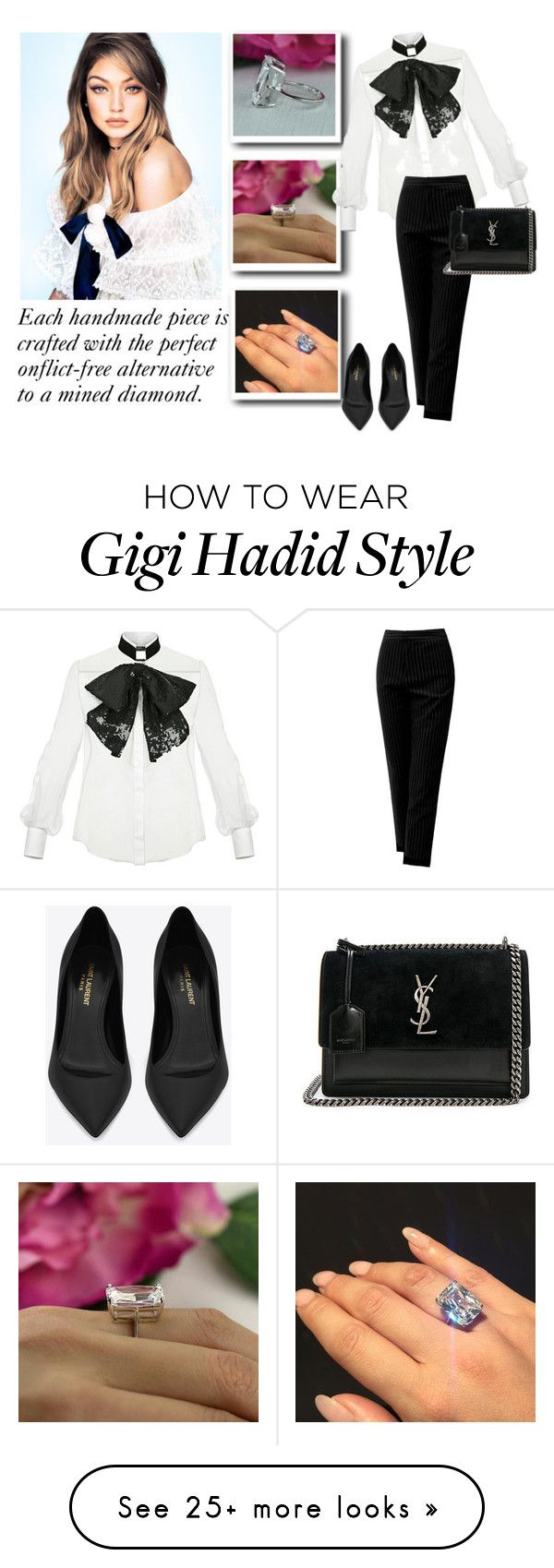 """SHOP - Tiger Gems"" by tiger-gems on Polyvore featuring Elisabetta Franchi, Sans Souci and Yves Saint Laurent"