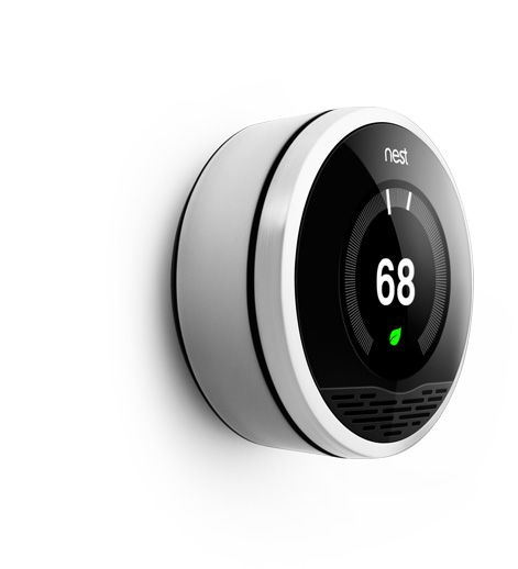 Meet Nest - The new smart thermostat. It learns your habits + you can control the heat & a/c from your phone! The future is here...