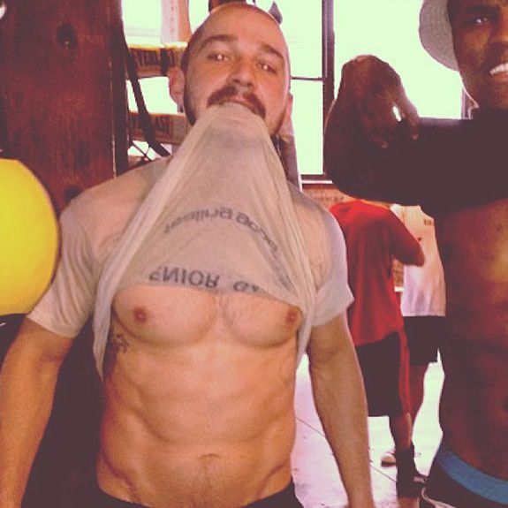 Holy crap, Shia LaBeouf got buff!... ain no way. He's all.. cute nd stuff now!