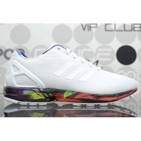 Scarpe Adidas ZX Flux Bianche da uomo; sneaker con fodera in mesh, tomaia in ripstop con motivo a diamante e intersuola in EVA. Spedizioni in 24/48h.
