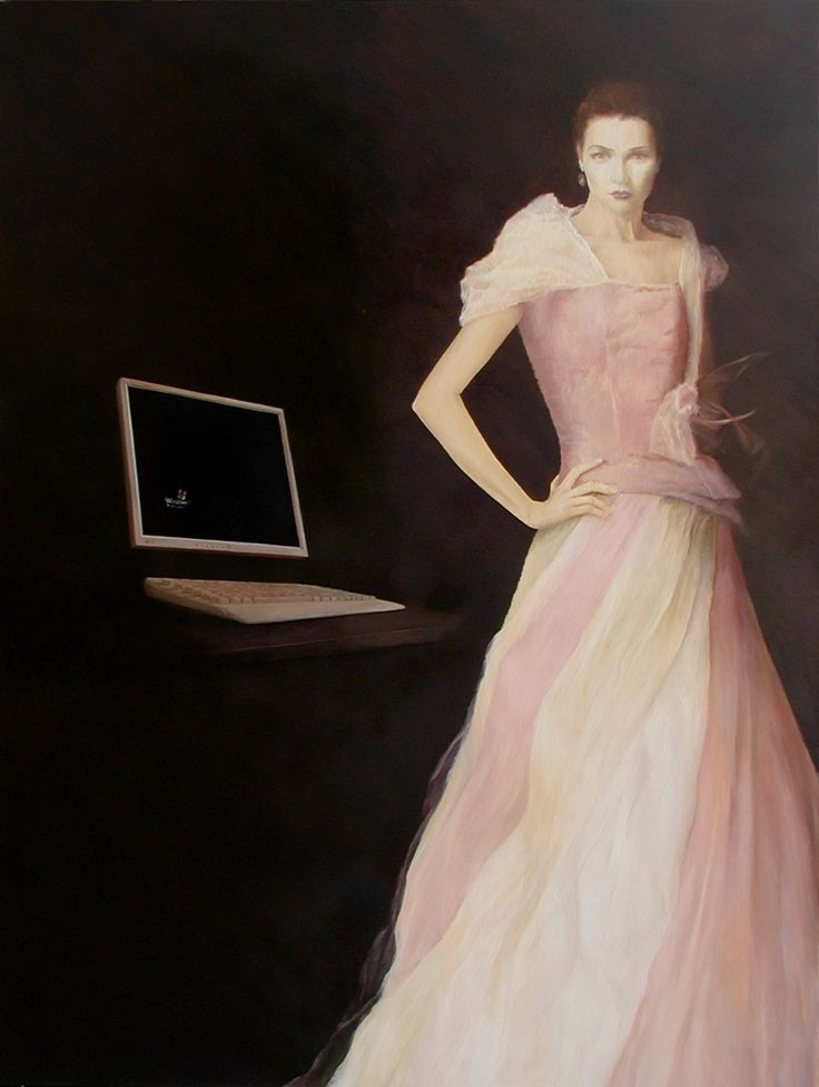 """Online"" 160 x 120 cm oil on canvas /2007/sold"