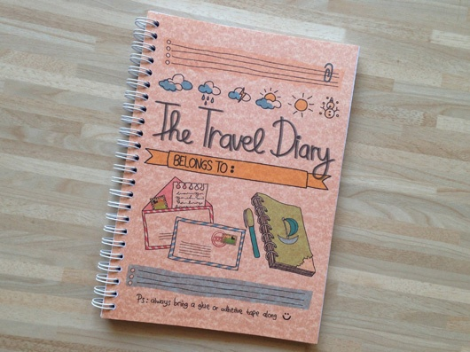 Peekmybook: The Travel Diary Peekmybook: The Travel Diary IDR 104.000  Cover: 220gr grey or peach capri paper Inside: 80gr A4 paper printed in full color Ink: water and fade resistant A5 (approx 15cm x 21 cm) 81 pages (one sided): 26 sets for 26 days of travel Each set include 1 page place you visited and itemsyou paid for, 1 page of meal you ate and notes, 1 page of paste anything memorable. And also 1 world map and 2 blank pages.  Available to order. Indonesia only. Leave a comment :)