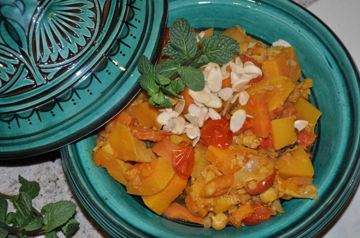 #Moroccan Butternut Squash & Chickpea #Tagine #vegan #vegetarian #food #recipe