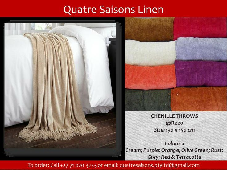 ACCESSORIES-CHENILLE THROWS
