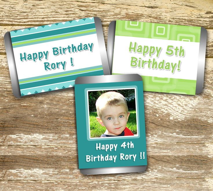 Candy Wrappers - Birthday Boy, Birthday Sticker, Birthday Favor, Blue and Green Birthday, Birthday Photo, Boy Birthday, Personalized Hershey by LittlePrintsOttawa on Etsy