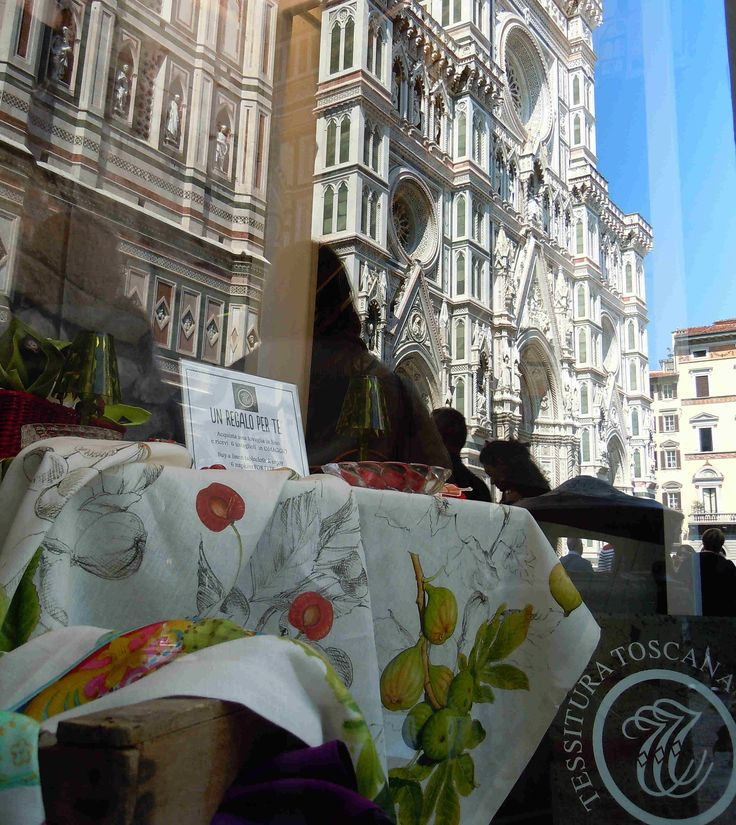 Demetra and a Reflected image of Piazza Duomo Florence
