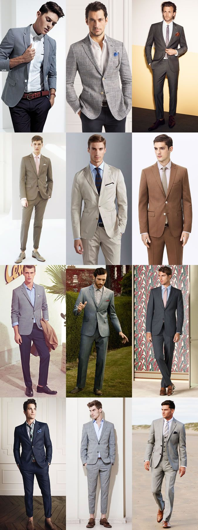 Men's Summer Wedding Guest Outfits Grey desert shoes