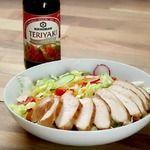Курица Терияки c разноцветным салатом