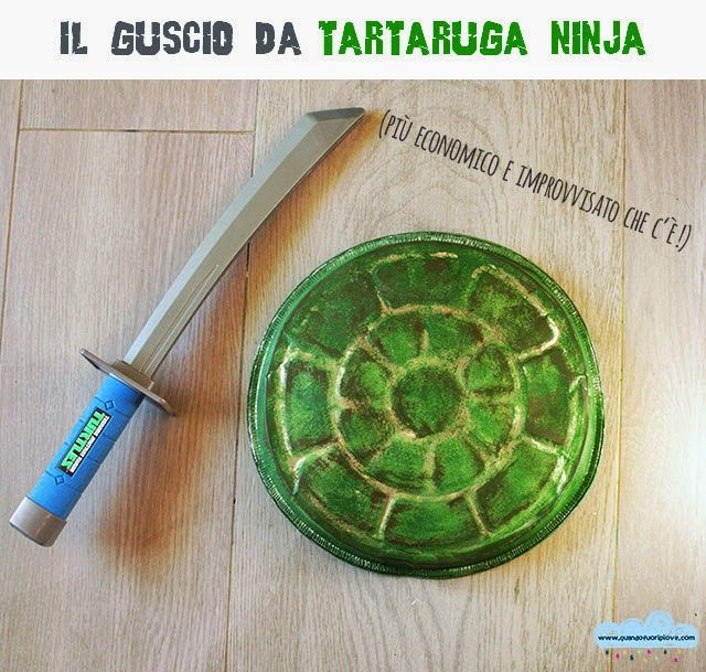 Quandofuoripiove: il guscio da tartaruga ninja più economico che c'è!  Ninja Turtle D.I.Y. shell