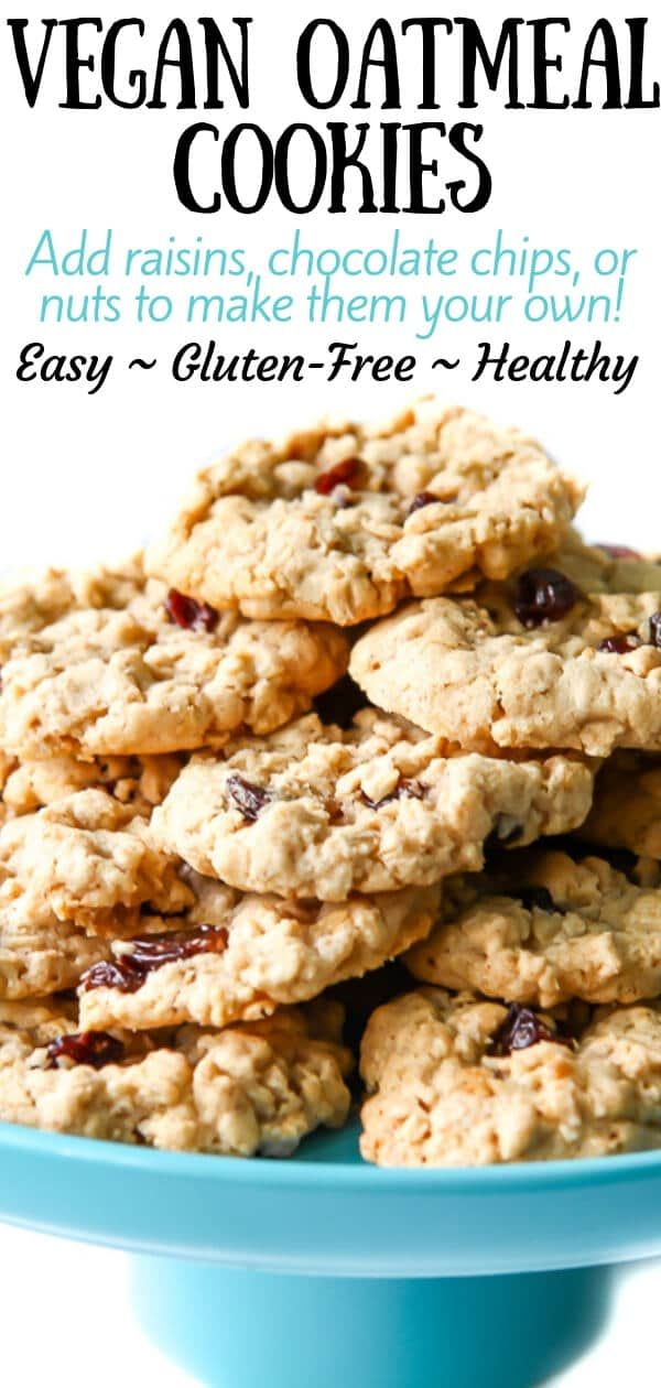 This Is The Best Vegan Oatmeal Cookie Recipe Ever Perfectly Soft And Chewy With The Vegan Oatmeal Cookies Vegan Cookies Recipes Vegan Oatmeal Raisin Cookies