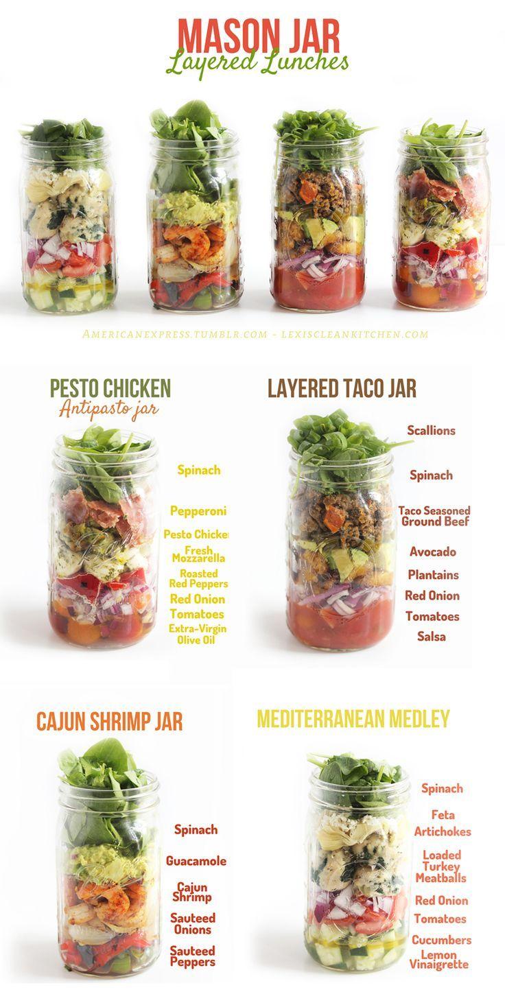 Clean Eating - Salat im Glas in Schichten