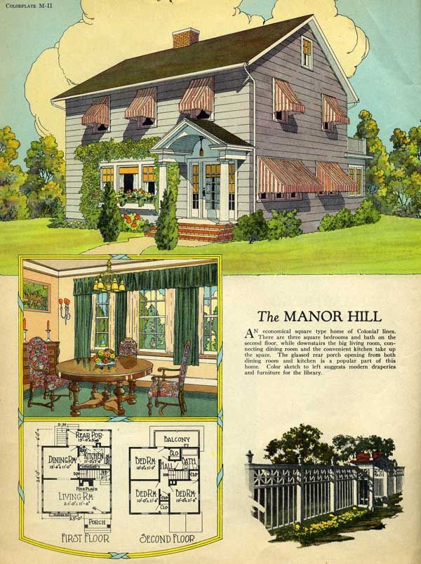 1925 Radford House Plan An Economical Square Type Home Of Colonial Lines