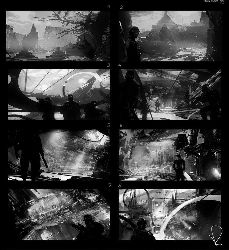 Frames mixed, Marcin Rubinkowski on ArtStation at https://www.artstation.com/artwork/BOLz9
