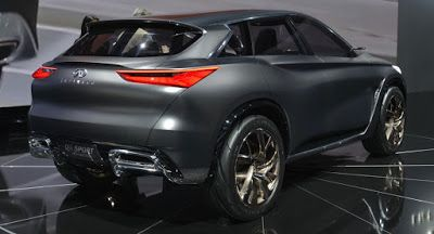 Infiniti QX Sport Inspiration rollt Sein Stealthy Batman-Kostüm Concepts Infiniti Infiniti Concepts LA Auto Show SUV Top 5