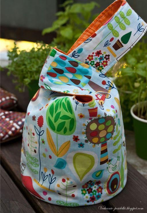 Японский узелок / Japanese knot bag - Вечерние посиделки