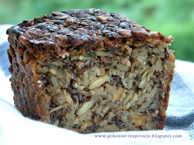 Qchenne-Inspiracje! Odchudzanie, dietoterapia, leczenie dietą: Bezglutenowy chleb z samych ziaren. Bez mąki!