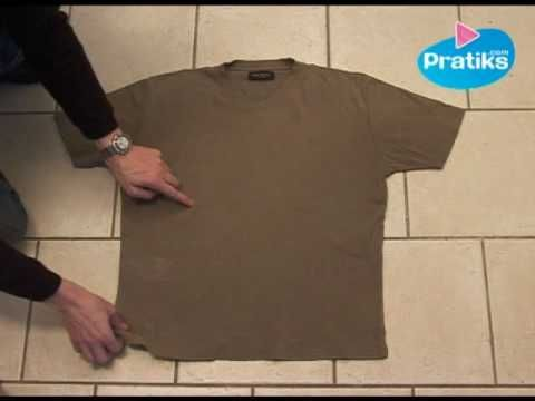 How to Fold a T-Shirt In 5 Seconds - YouTube