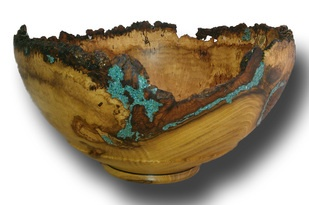 Jay W, Saxon, locust with turquoise and natural edge.