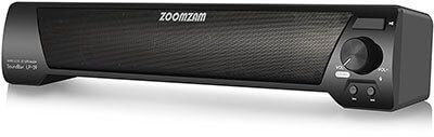 ZoomZam Bluetooth Sound Bar with dual drivers
