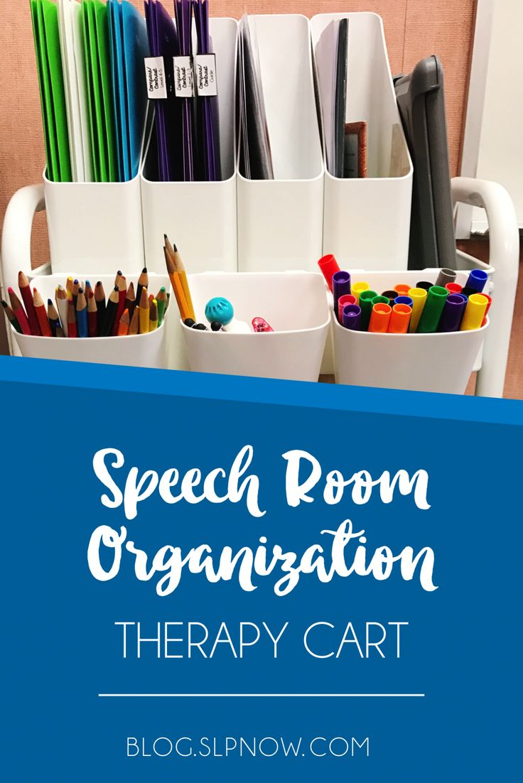 Check out this post for ideas on how to organize your weekly speech therapy materials!