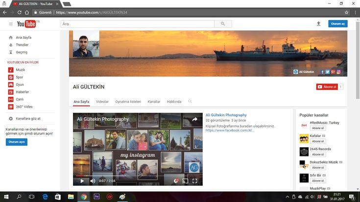 Youtube Kanalım Tekrardan Aktif - http://www.aligultekin.com.tr/youtube-kanalim-tekrardan-aktif