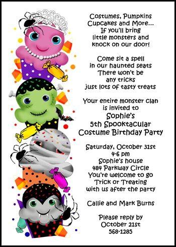 Best 25 halloween invitation wording ideas on pinterest hallows kids costumes cupcakes halloween party invites stopboris Image collections