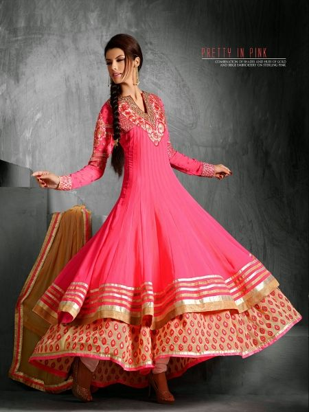 """Paris Presents """"Navratri Special Collection  Online Shopping Indian Women Ethnic Wear Email Id- Contact@parisworld.in  Customer Care No- +91 8866982359 http://www.parisworld.in/product_detail.php?product_id=2315&name=Pink+Georgette+Awesome++Designer+Anarkali++Salwar+Kameez+  Online Buy Indian Designer Sarees,Salwar Kameez in Surat-India,Manufacturer,Supplier,Clothes,Women Ethnic Wear, Fashion Store,Kurtis,Chaniya Choli,Fancy Dresses,Tunic,Wholesaler,Reasonable Price"""