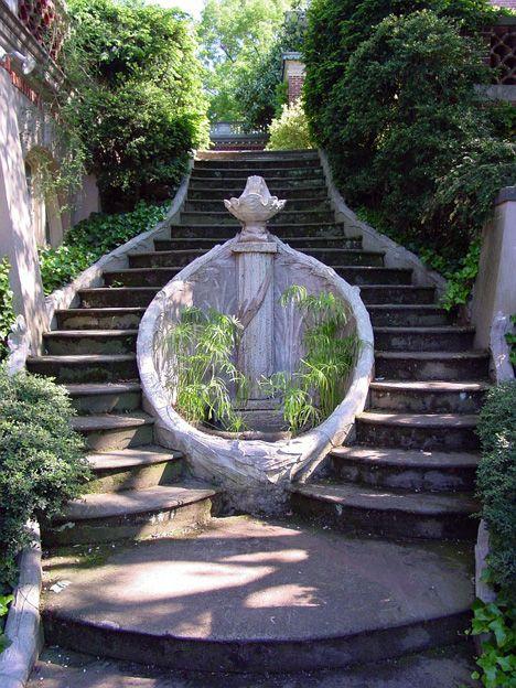 old garden stairway