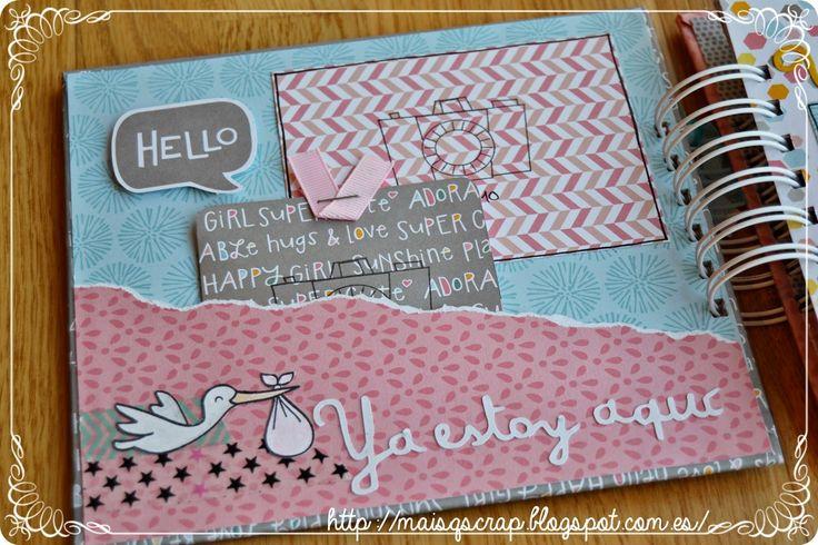 Máis que scrap: MiniÁlbum de bebé + Reto FSN rosa