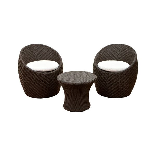 Morocco 3-Piece Outdoor Seating Set - Tropical - Outdoor Lounge Sets -... ❤ liked on Polyvore featuring home, outdoors, patio furniture, outdoor seating sets, outdoor patio seating sets, outdoors patio furniture, outdoor garden furniture and outdoor lounge set