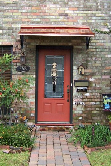 The Copper Concave Door Awning In Houston Tx Concave Style Door