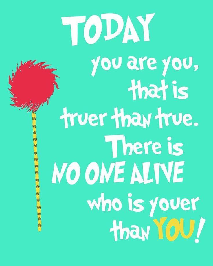 Just #beyou #drseussbirthday #drseussbirthdaycelebration #drseusdfan #positivevibe #positivequotes #positivevibesonly