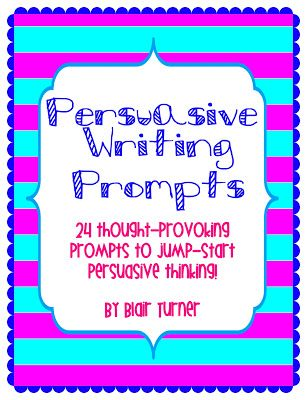 Freebie! 24 thought-provoking prompts to jump-start persuasive writing