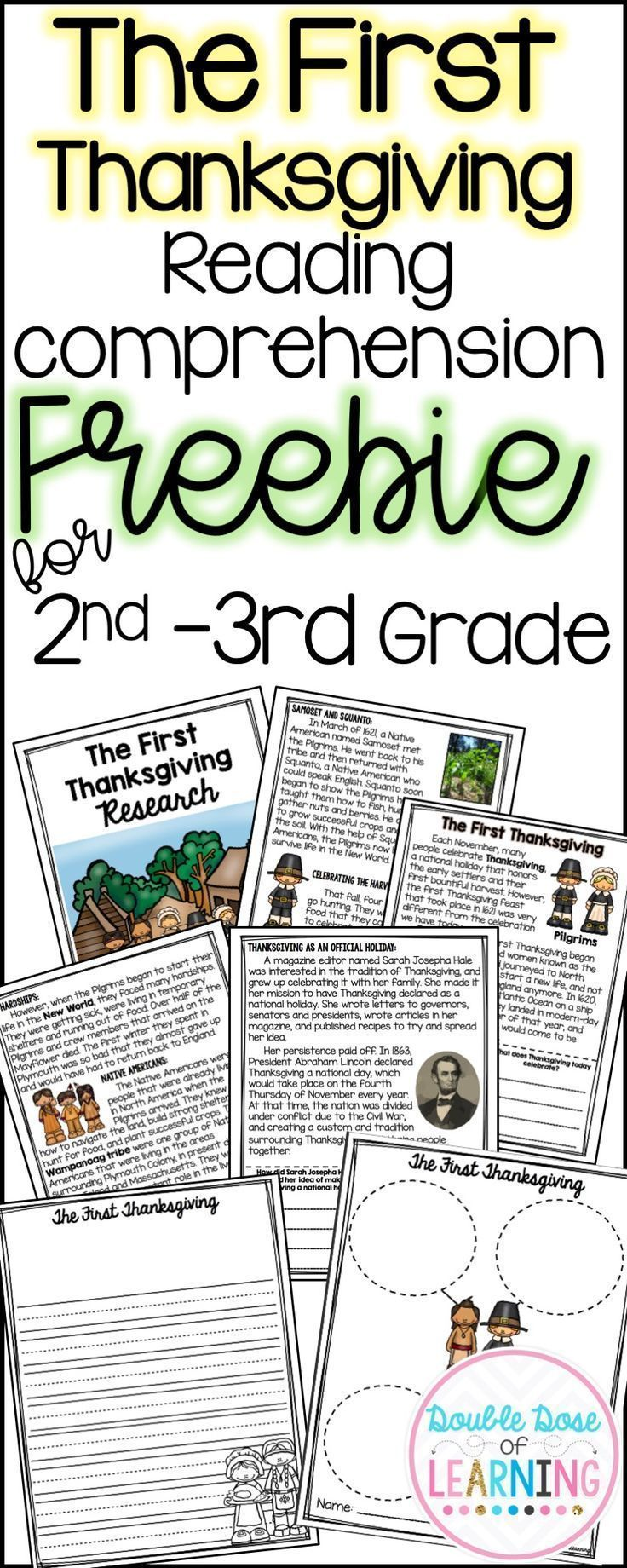 small resolution of The Story of the First Thanksgiving Pocketbook   Thanksgiving reading  comprehension