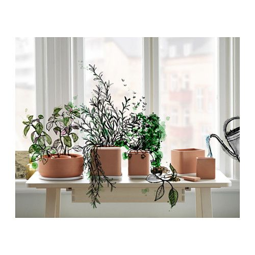 ANVÄNDBAR 4-piece self-watering plant pot set  - IKEA