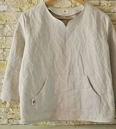 like the pocket Light Gray Linen WIDE 134cm U2855 by SonSu on Etsy