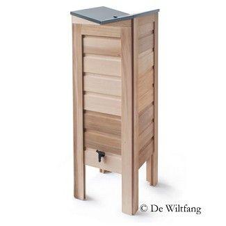 Regenton cederhout, 100 liter - Toebehoren - De Wiltfang