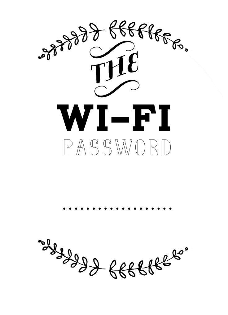 Best 25 Wifi password printable ideas on Pinterest Wifi