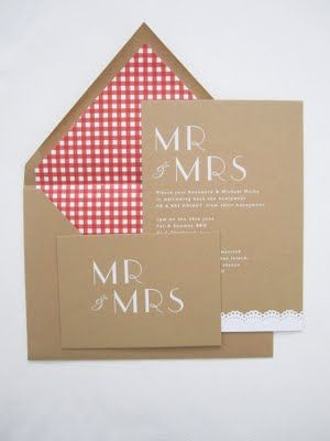 Picnic inspired wedding invites!!