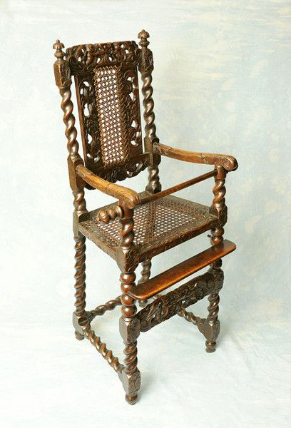 17th Century Walnut Childs High Chair C 1680 England