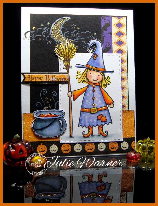Cute Halloween Witch FS455 by justwritedesigns - Cards and Paper Crafts at Splitcoaststampers