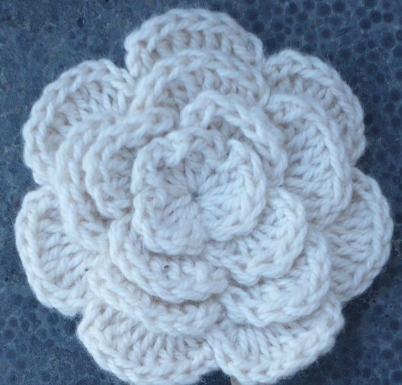 Crochet Broach Flower by RedIbisGifts on Etsy