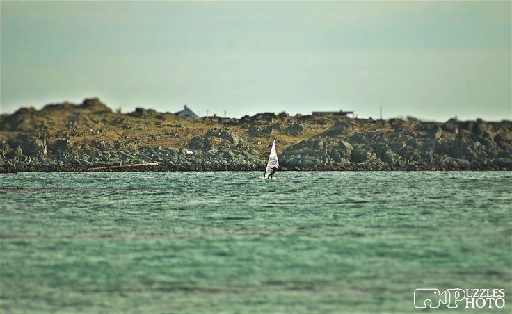 Alone windsurfer  Åkrasanden, Haugesund, Norway  #puzzlesphoto