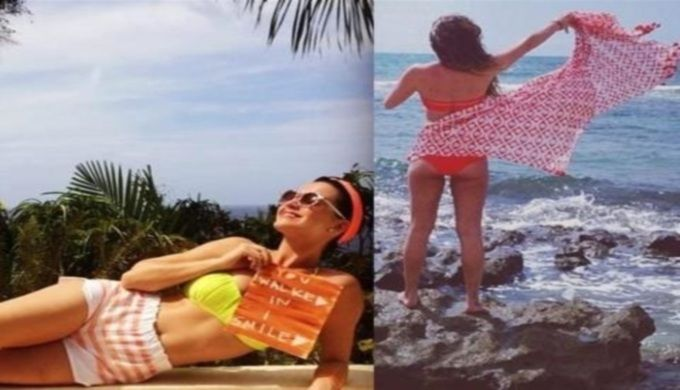Bikini battle 13: Lea Michele vs Katy Perry Musical theatre diva Lea Michele is ready to face off against global pop stage diva Katy Perry in bikini battle number 13. You be the judge of who wins this round.