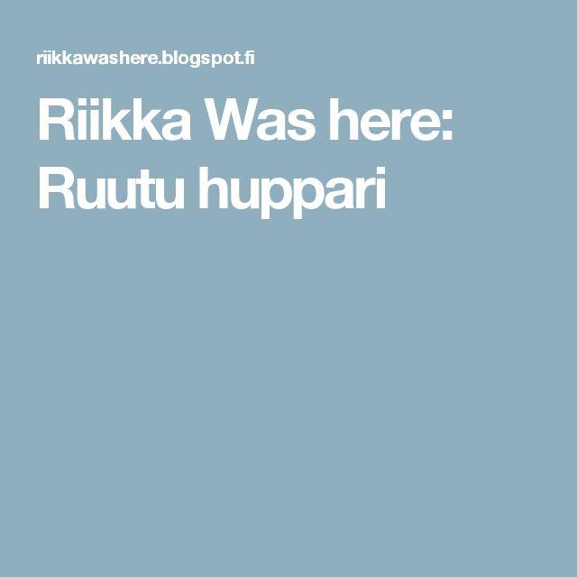 Riikka Was here: Ruutu huppari