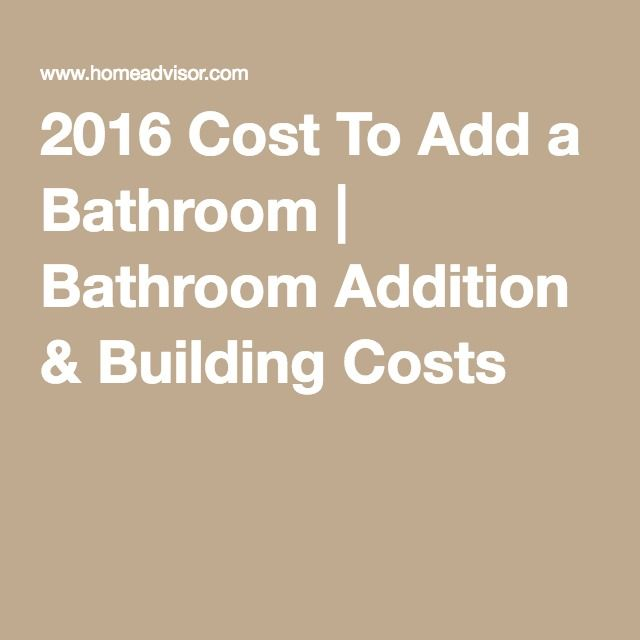 2016 Cost To Add a Bathroom | Bathroom Addition & Building Costs